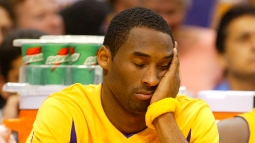 kobe bryant sleeping